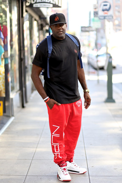 big Nupe Diamond joggers, red