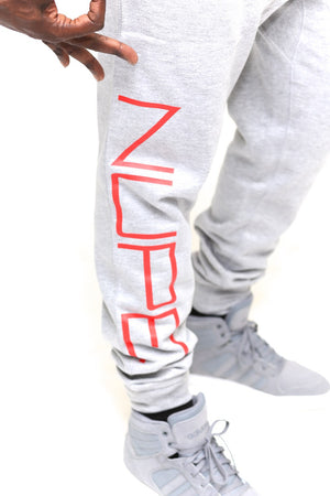 big Nupe Diamond joggers, grey