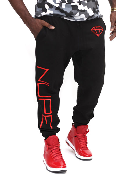 big Nupe Diamond joggers, black