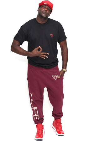 big Nupe Diamond joggers, krimson