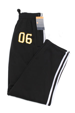 Post Up 06 striped sport sweats, black