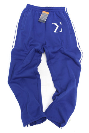 Post Up Σ striped sport sweats, blue