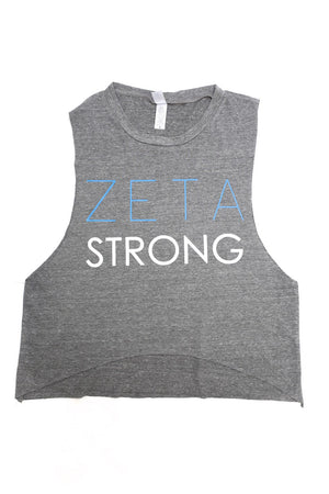 Strong Zeta featherweight workout tank, grey