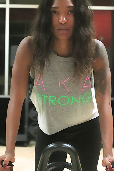 Strong AKA featherweight workout tank, grey