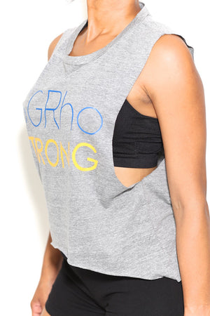 Strong SGRho featherweight workout tank, grey