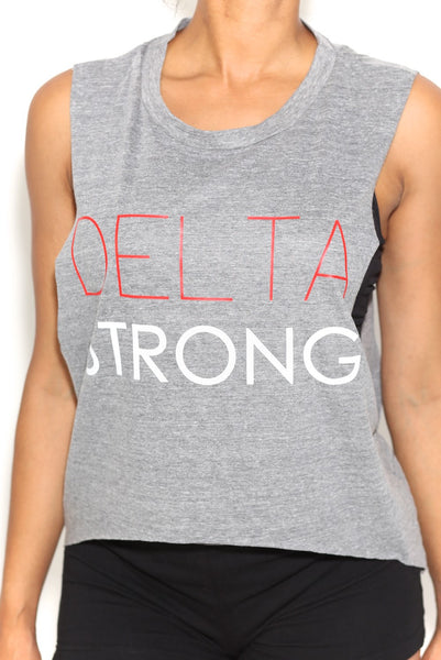 Strong Delta featherweight workout tank, grey