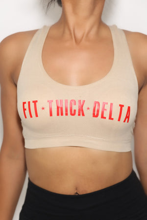 Fit•Thick•Delta sports bra, cream