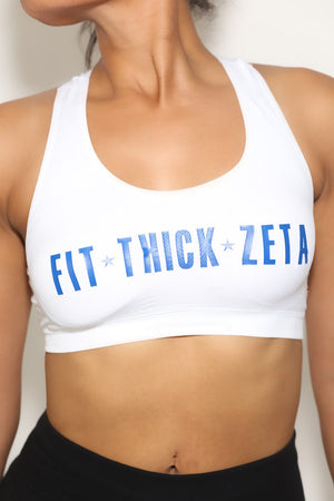 Fit•Thick•Zeta sports bra, white