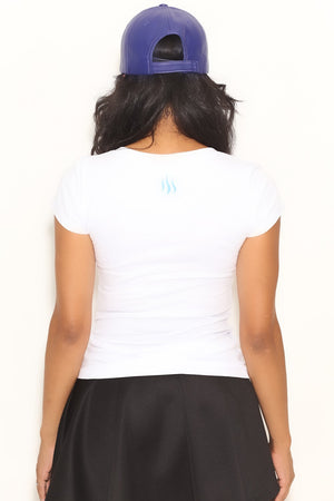 Fundamental Zeta tee (v), white