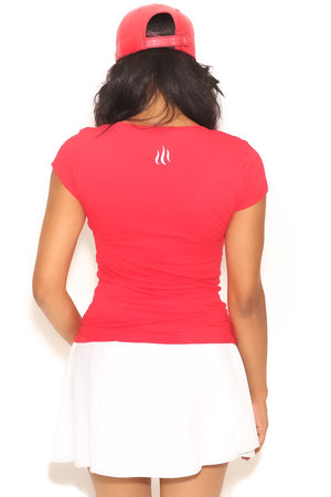 Fundamental Delta tee (v), red