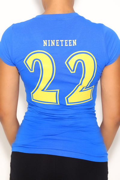 Team Nineteen22 tee, blue