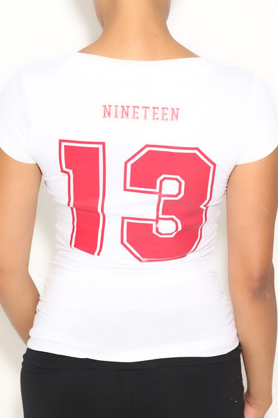 Team Nineteen13 tee, white