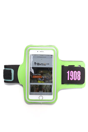 Road Tripper 1908 smartphone armband case, green