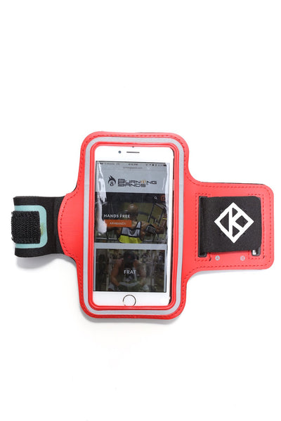 Road Tripper Diamond-K smartphone armband case, red