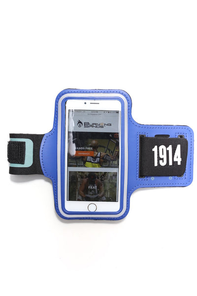 Road Tripper 1914 smartphone armband case, blue