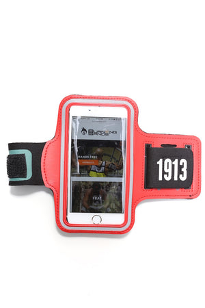 Road Tripper 1913 smartphone armband case, red