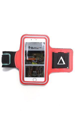 Road Tripper Δ smartphone armband case, red
