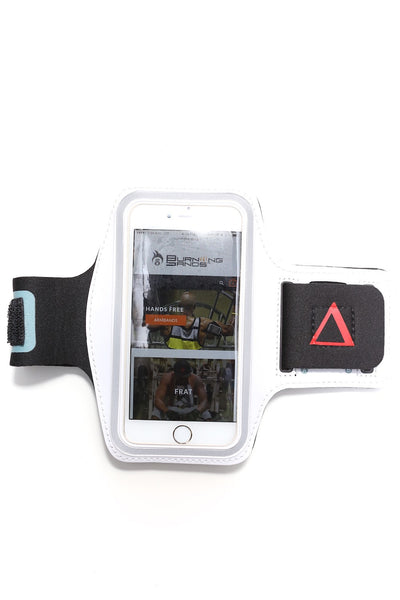 Road Tripper Δ smartphone armband case, white