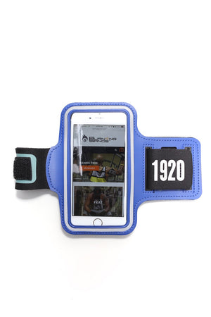Road Tripper 1920 smartphone armband case, blue