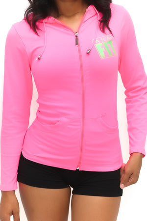 FIT AKA Warm-Up track jacket, pink