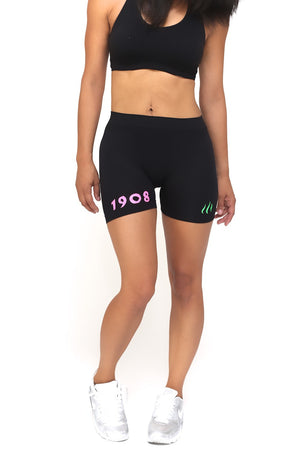1908 FitTight™ shorts, black/pink/green