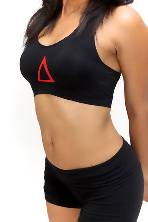 Super Delta sports bra, black
