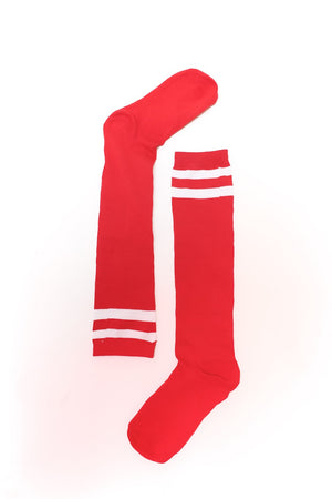 High & Tight knee-high sports socks, red