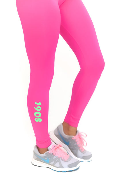 1908 FitTight™ tights, pink/green