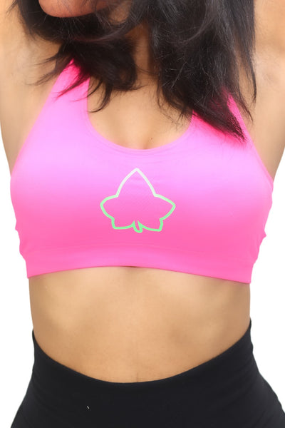 Super Ivy sports bra, pink