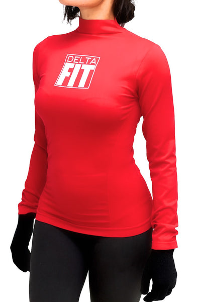 FIT Delta Warm-Up turtleneck, crimson