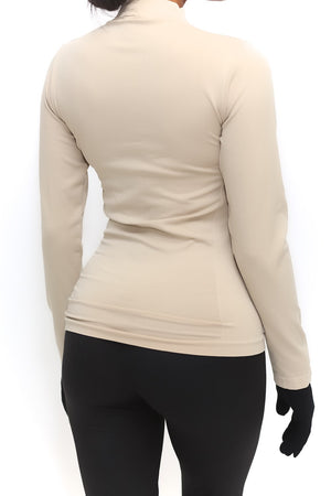 FIT Delta Warm-Up turtleneck, cream