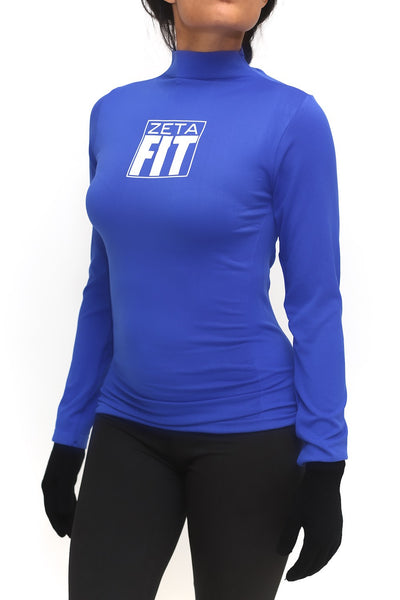 FIT Zeta Warm-Up turtleneck, blue
