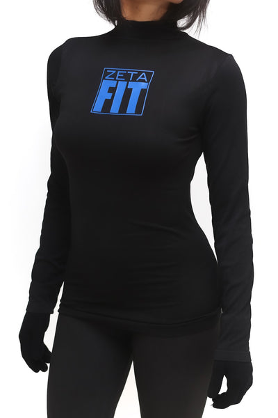 FIT Zeta Warm-Up turtleneck, black