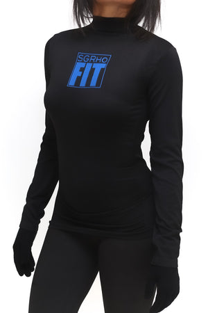 FIT SGRho Warm-Up turtleneck, black