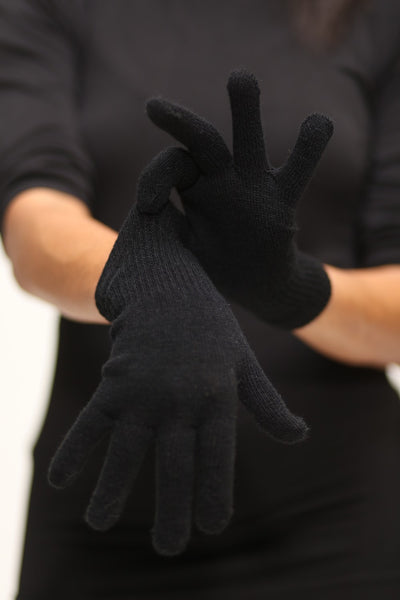 Toasty Fingers gloves, womens black