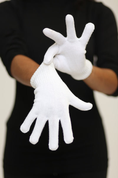 Toasty Fingers gloves, womens white
