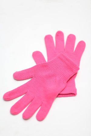 Toasty Fingers gloves, womens pink