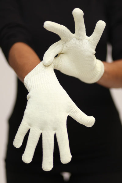 Toasty Fingers gloves, womens cream