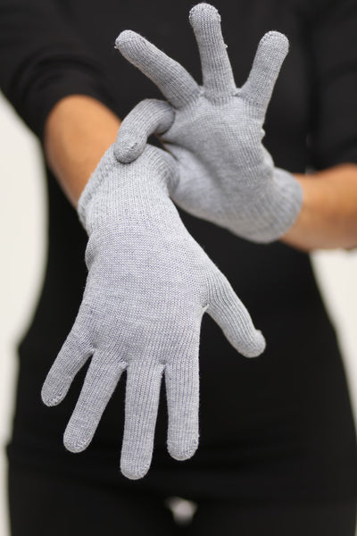 Toasty Fingers gloves, womens heather grey