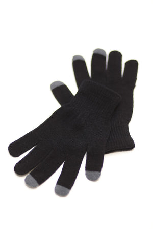 Digital Toasty Fingers gloves, unisex black