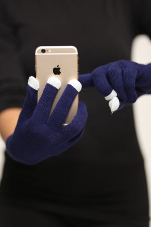 Digital Toasty Fingers gloves, unisex blue