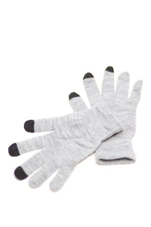 Digital Toasty Fingers gloves, unisex heather grey