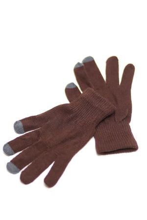 Digital Toasty Fingers gloves, unisex brown