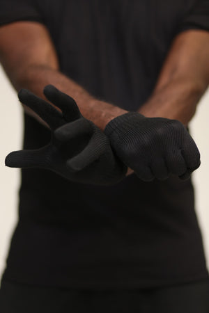 Toasty Fingers gloves, mens black