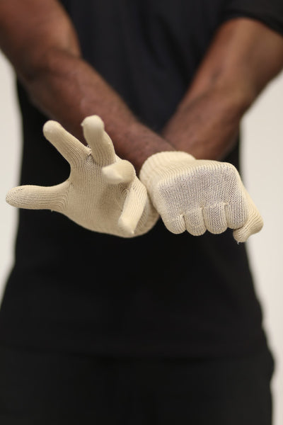 Toasty Fingers gloves, mens cream