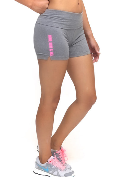 Mind, Body & AKA yoga shorts, grey