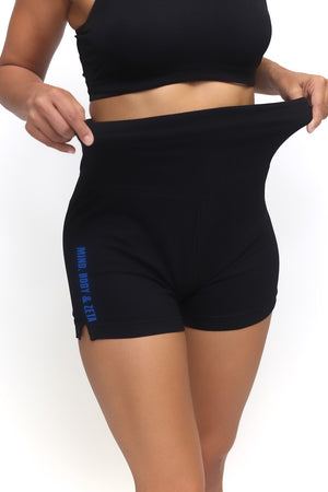 Mind, Body & Zeta yoga shorts, black