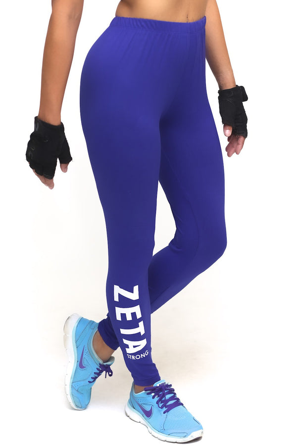 Power Club Zeta Strong advanced leggings, blue - Burning Sands