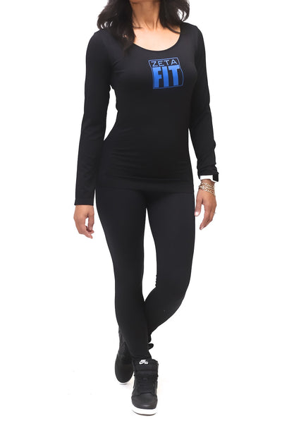 FIT Zeta Warm-Up scoopneck, black