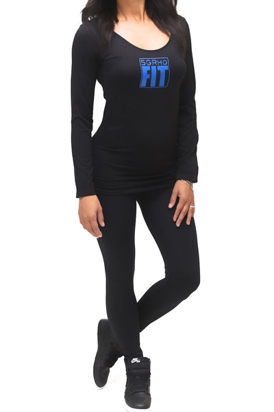 FIT SGRho Warm-Up scoopneck, black